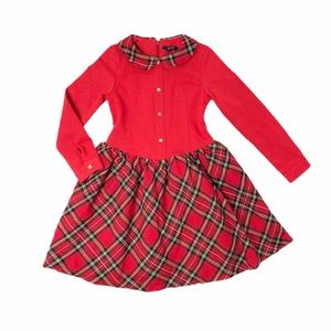 Gorgeous E-Land red plaid dress